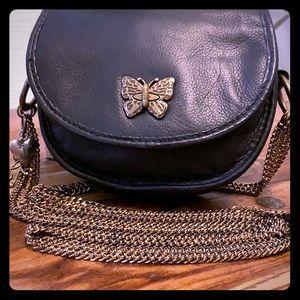 🎼Rhythm and rhyme black leather Crossbody purse🎼